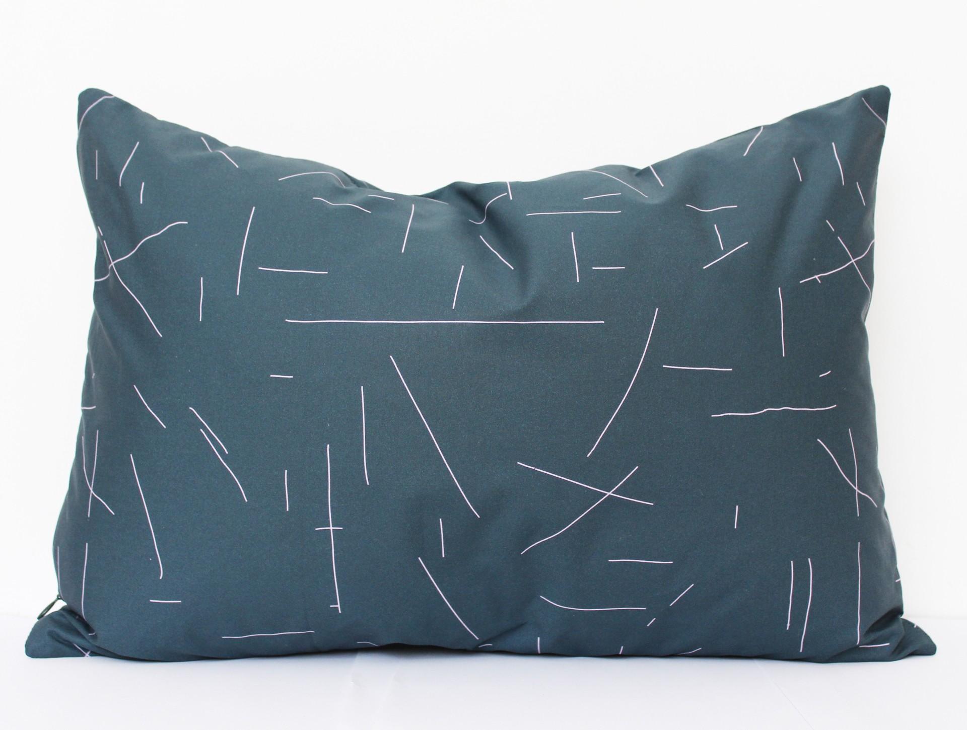 Cushion darkgreen | pink