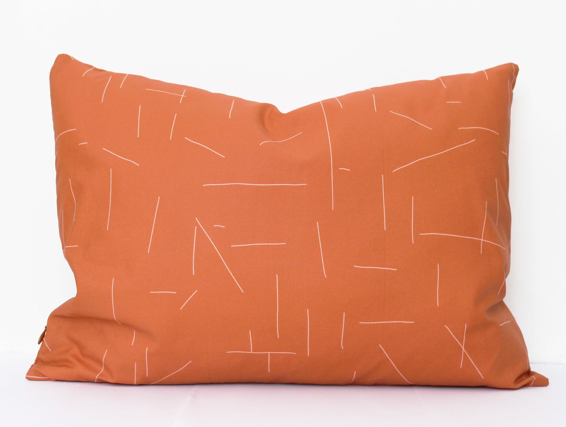 Cushion rusty brown | pink