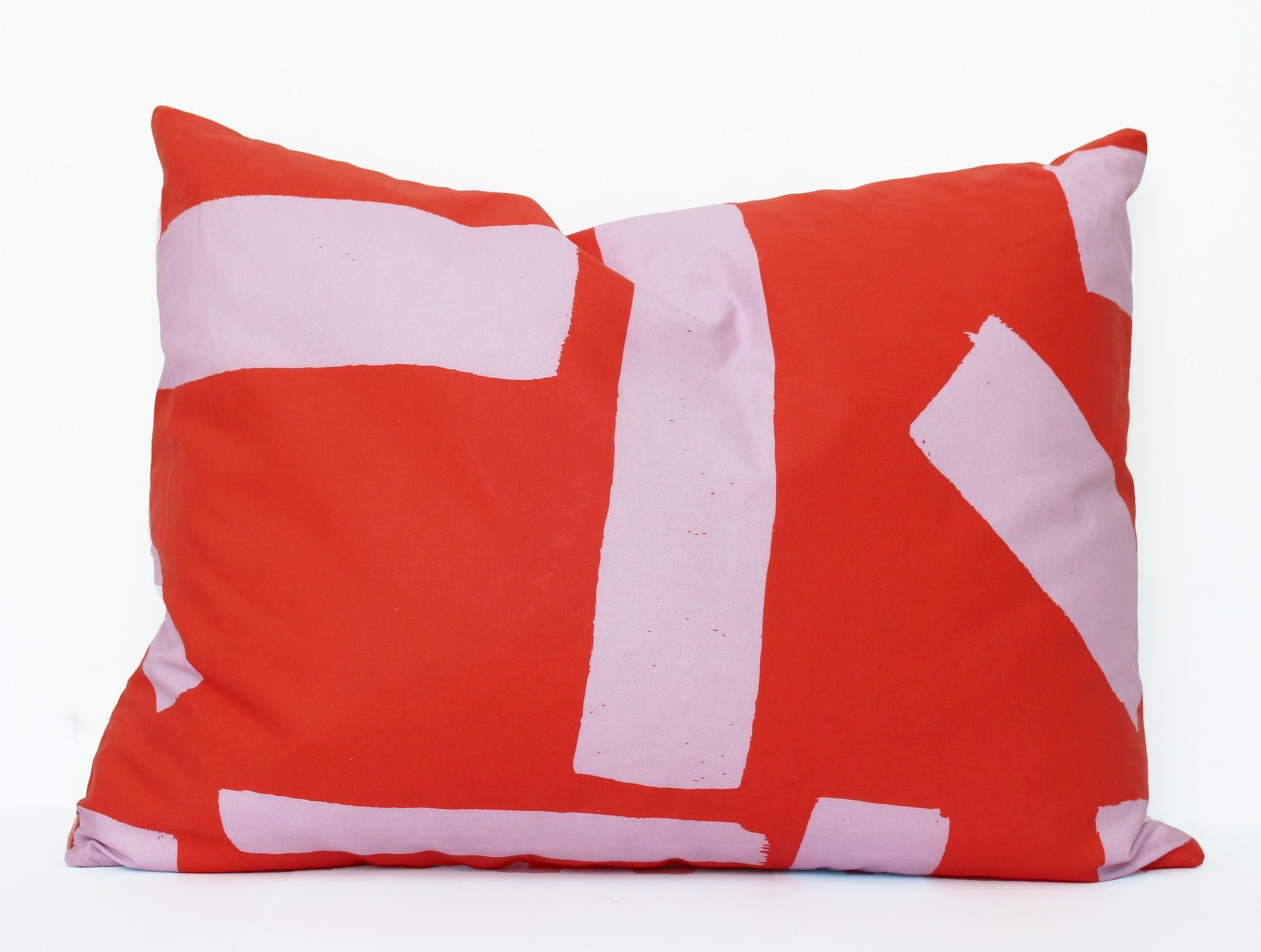 Dekbedovertrek kussensloop: rood | lila