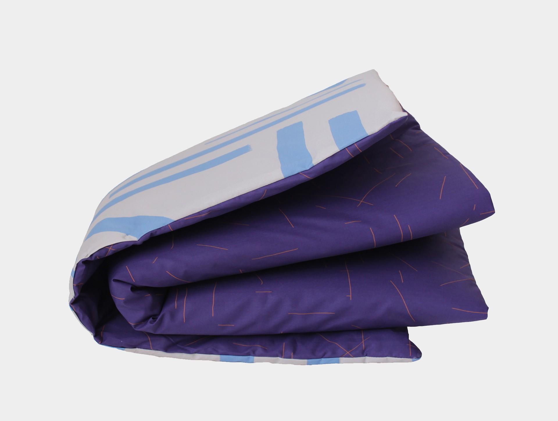 Speelkleed blauw-roestbruin / grijs-lichtblauw