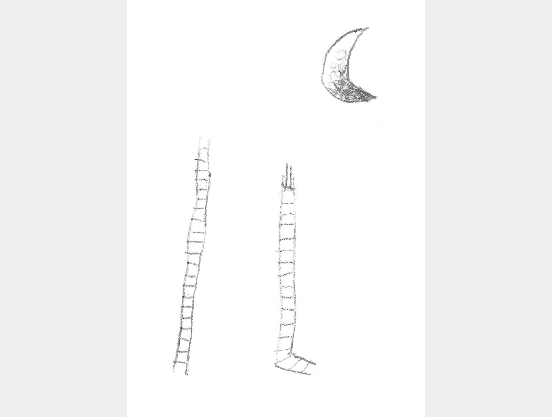 Poster ladders naar de maan