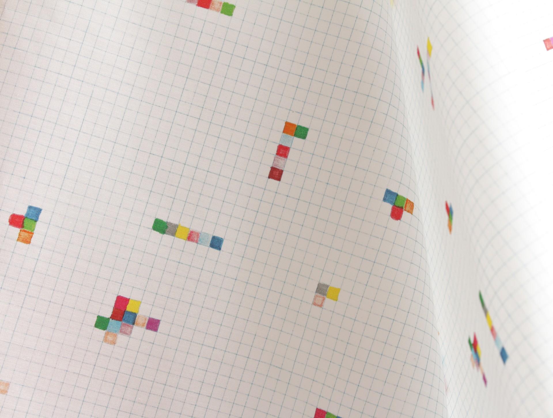 Speciale editie stof 'hokjes' 0,5 meter