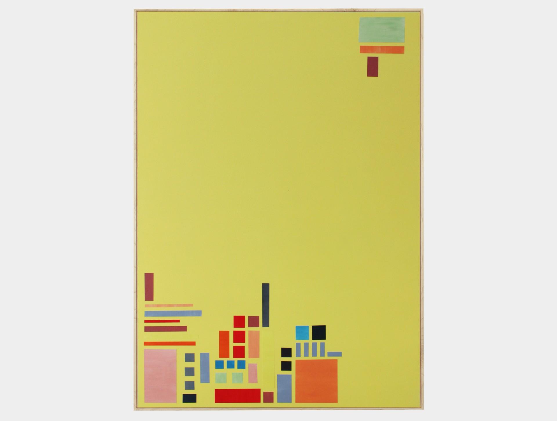 Schilderij, bouwwerk 4 geel