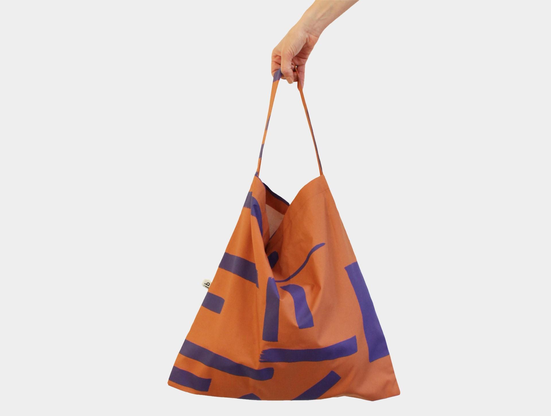 Simple bag rustbrown | blue